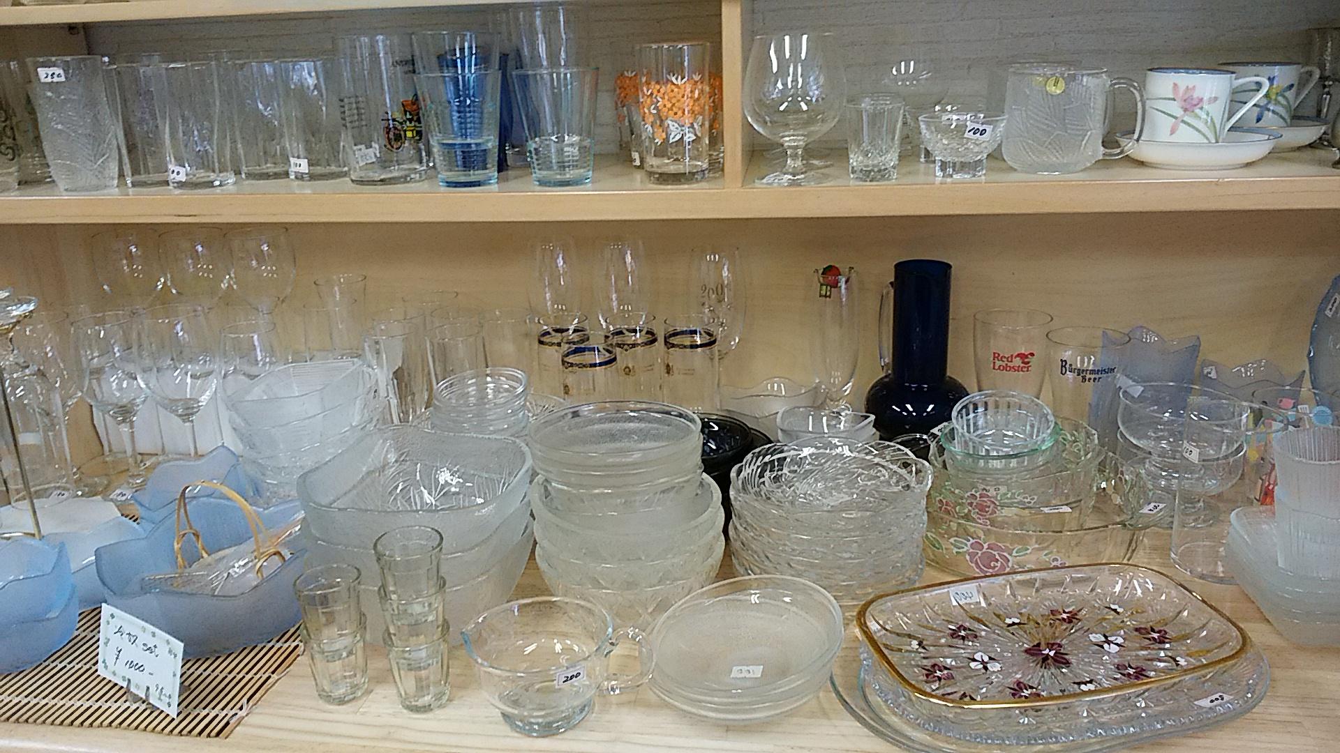 ガラス食器市